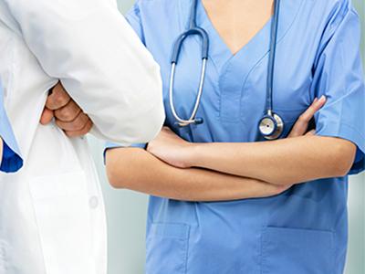 hospital nurses and doctors, staff safety