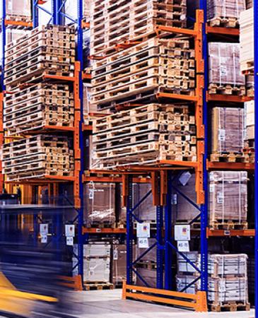 warehouse holding logistics sector goods