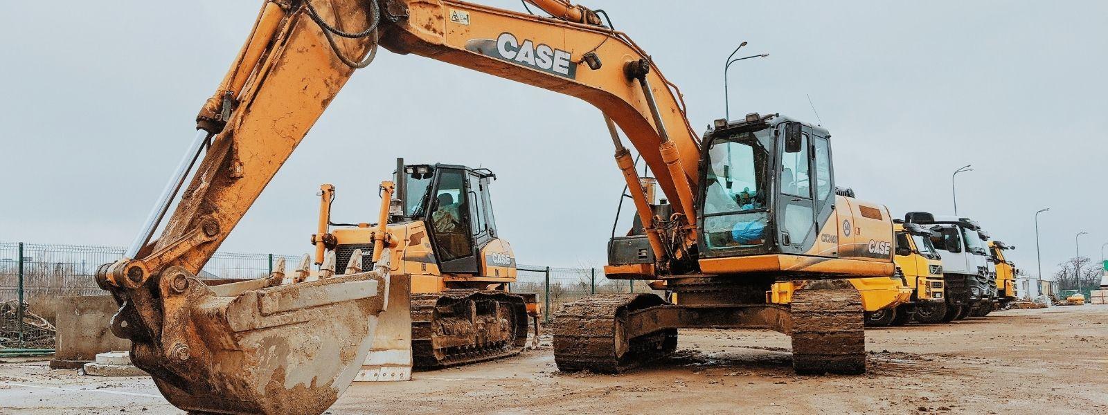 digger at building site