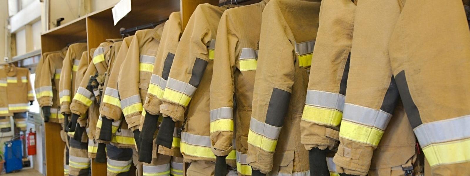 Uniforms on a rack