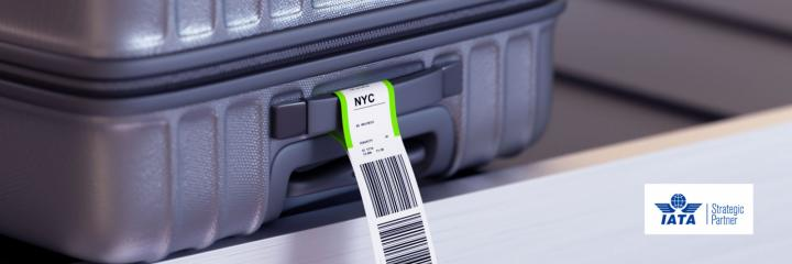 suitcase tagged at airport