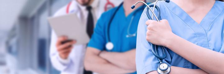 staff safety, nurses holding medical equipment