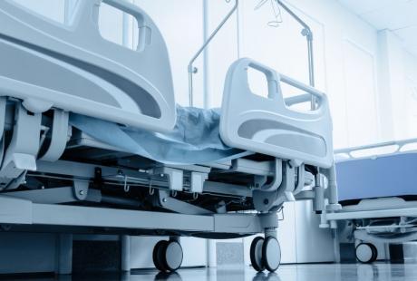 hospital beds lined up